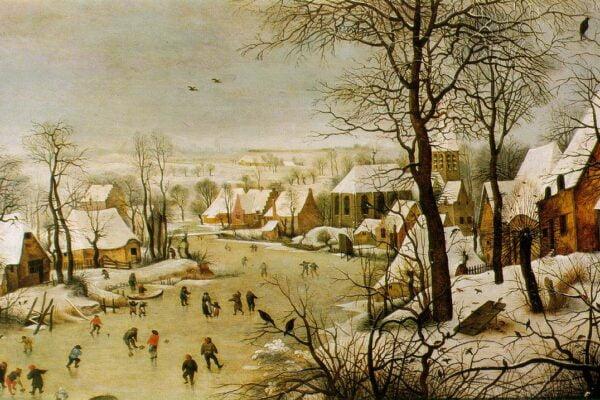 Bruegel - Zimowy pejzarz